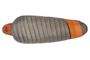 Kelty Tuck 0 Degree Sleeping Bag, gray/orange, shown fully zipped