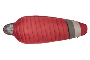 Kelty Women's Tuck 20 Degree Sleeping Bag, red, fully zipped