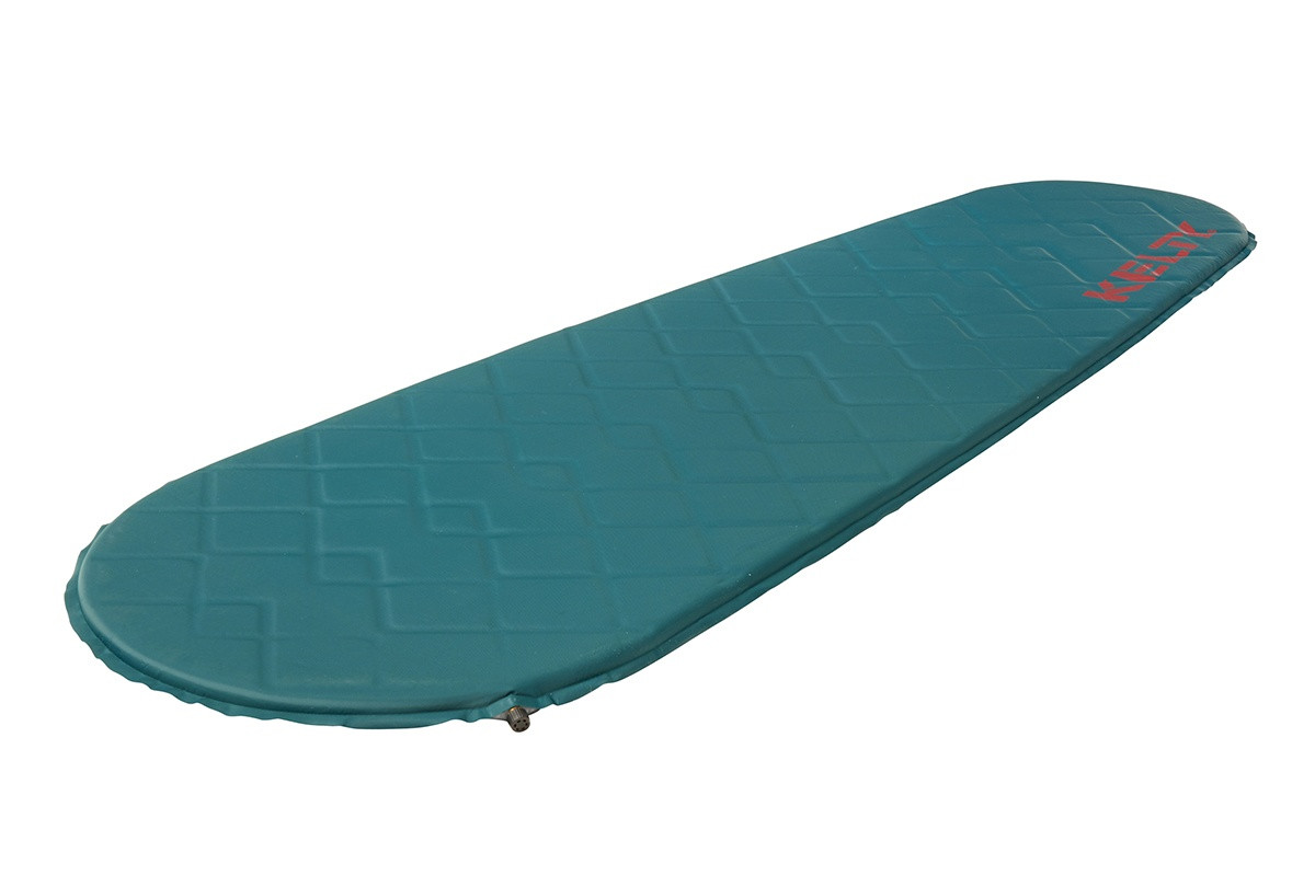 Kelty Cosmic Mummy Sleeping Pad, turquoise, shown at an angle