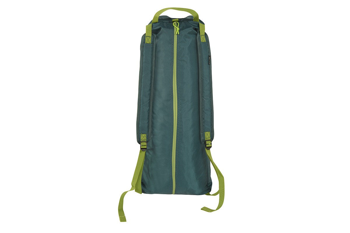 Kelty Noah's Screen 12 screen house, packed in a green backpack-style storage bag