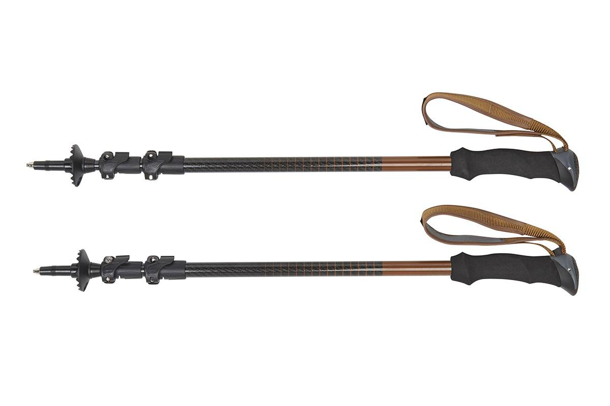 Kelty Cirque trekking poles, black, set of 2, shown fully collapsed