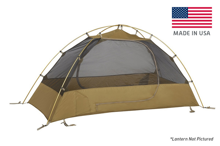 Kelty 2 Man Field Tent With Lantern Coyote Brown with rain fly removed