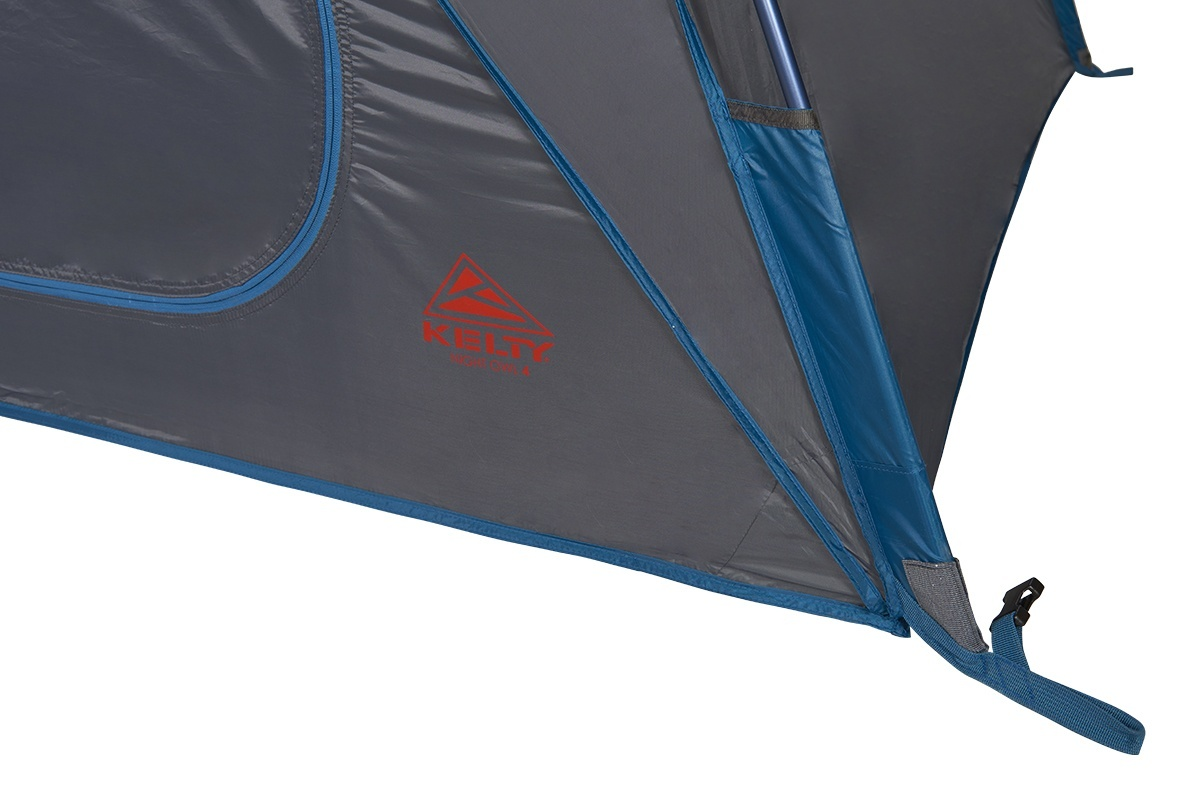 Close up of Kelty Night Owl 2 person tent, showing lower pole sleeve