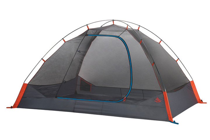 Kelty Late Start 4 person tent, dark gray, with rain fly removed