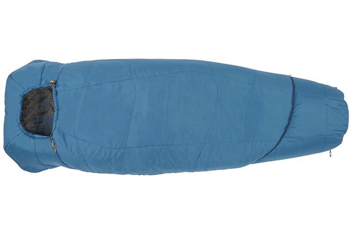 Kelty Tru.Comfort 20 sleeping bag, blue, shown fully zipped