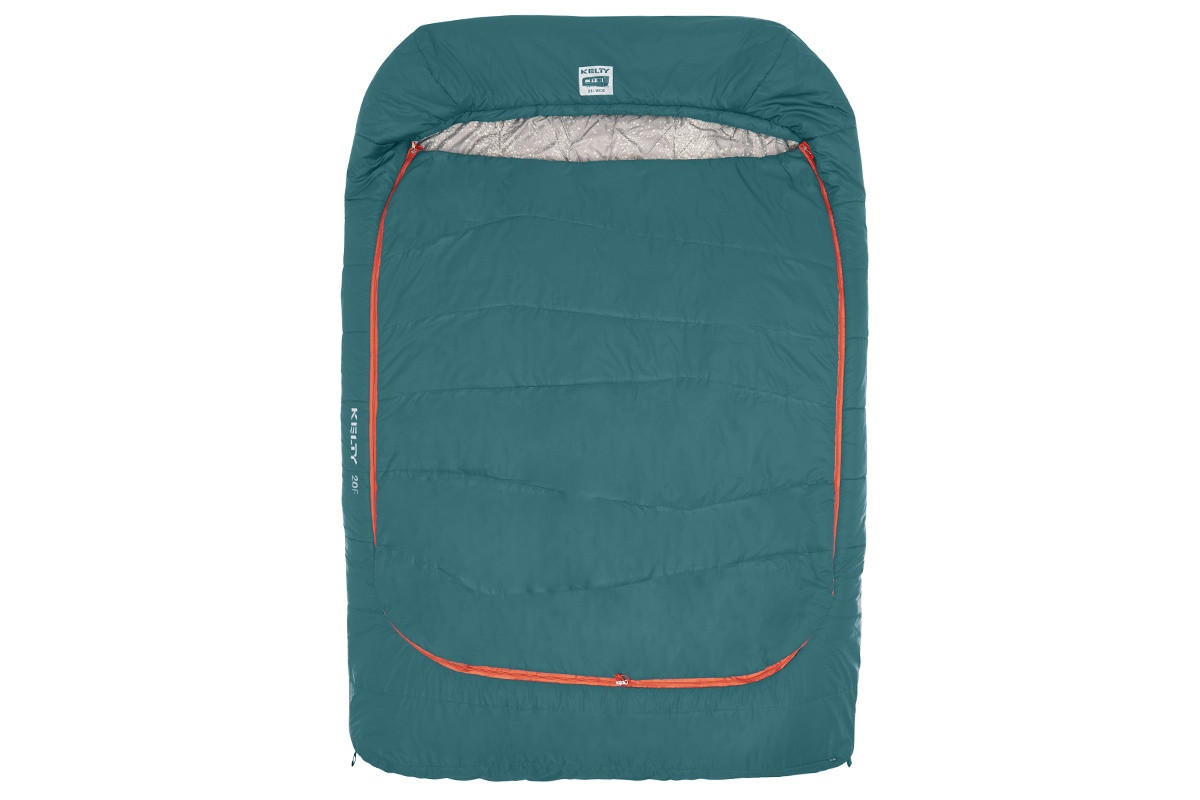 Kelty Tru.Comfort Doublewide 20, Deep Teal, shown fully closed