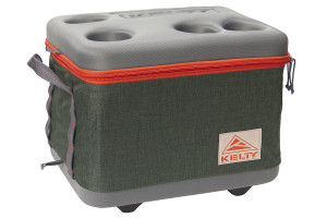 Kelty Folding Cooler, Green, fully expanded