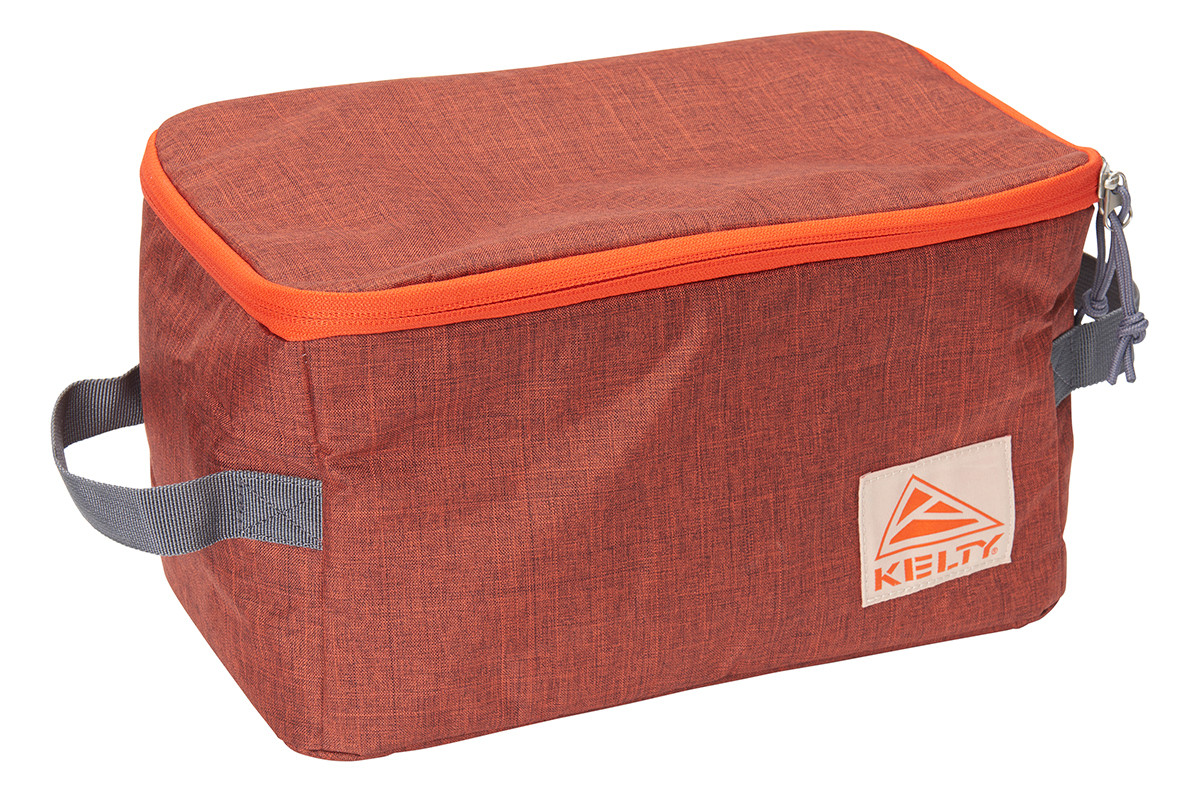 Kelty Wee G storage bag, orange, shown zipped