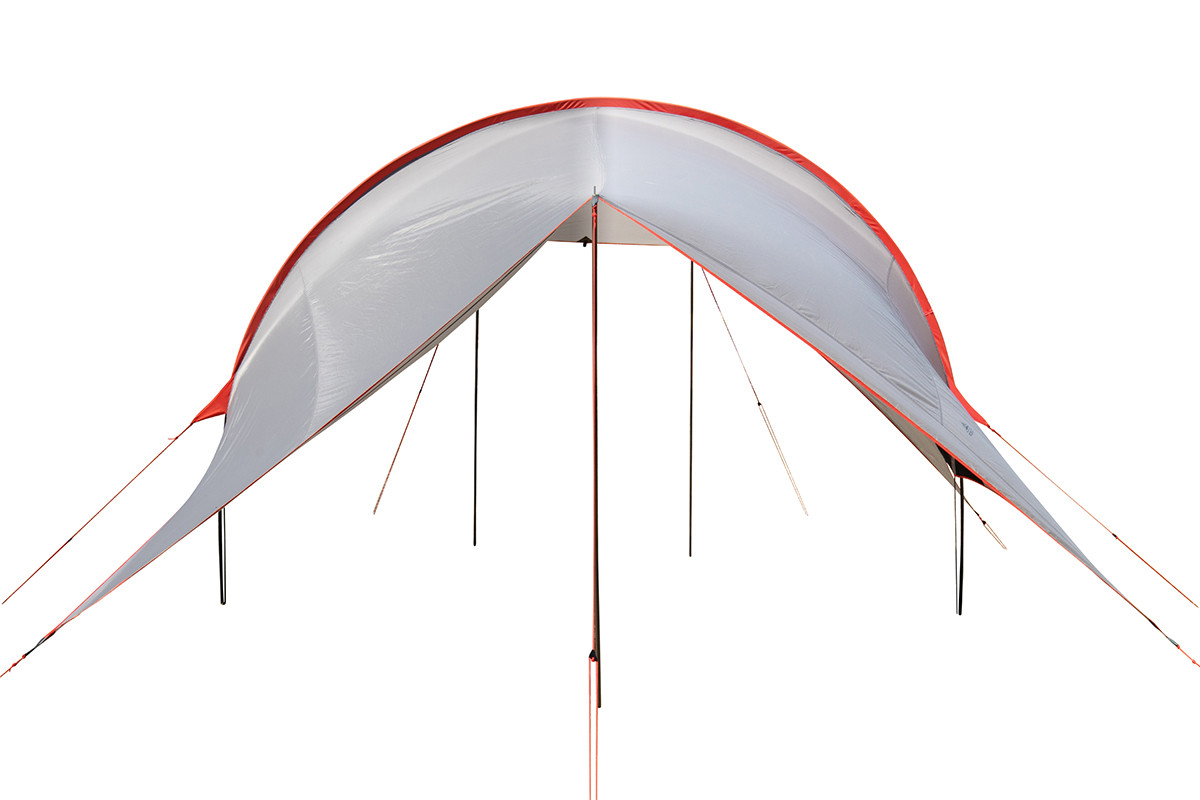 Kelty Big Shady tarp, tan colorway, rear view