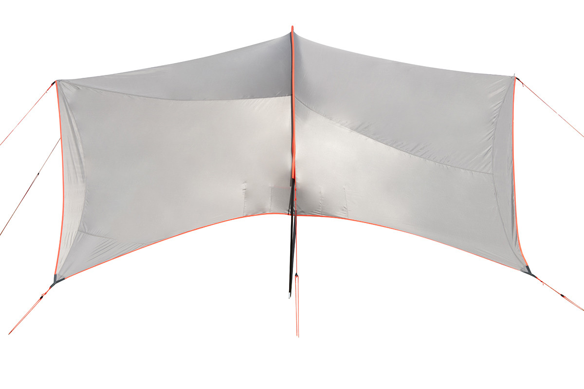 Kelty Big Shady tarp, tan colorway, top view