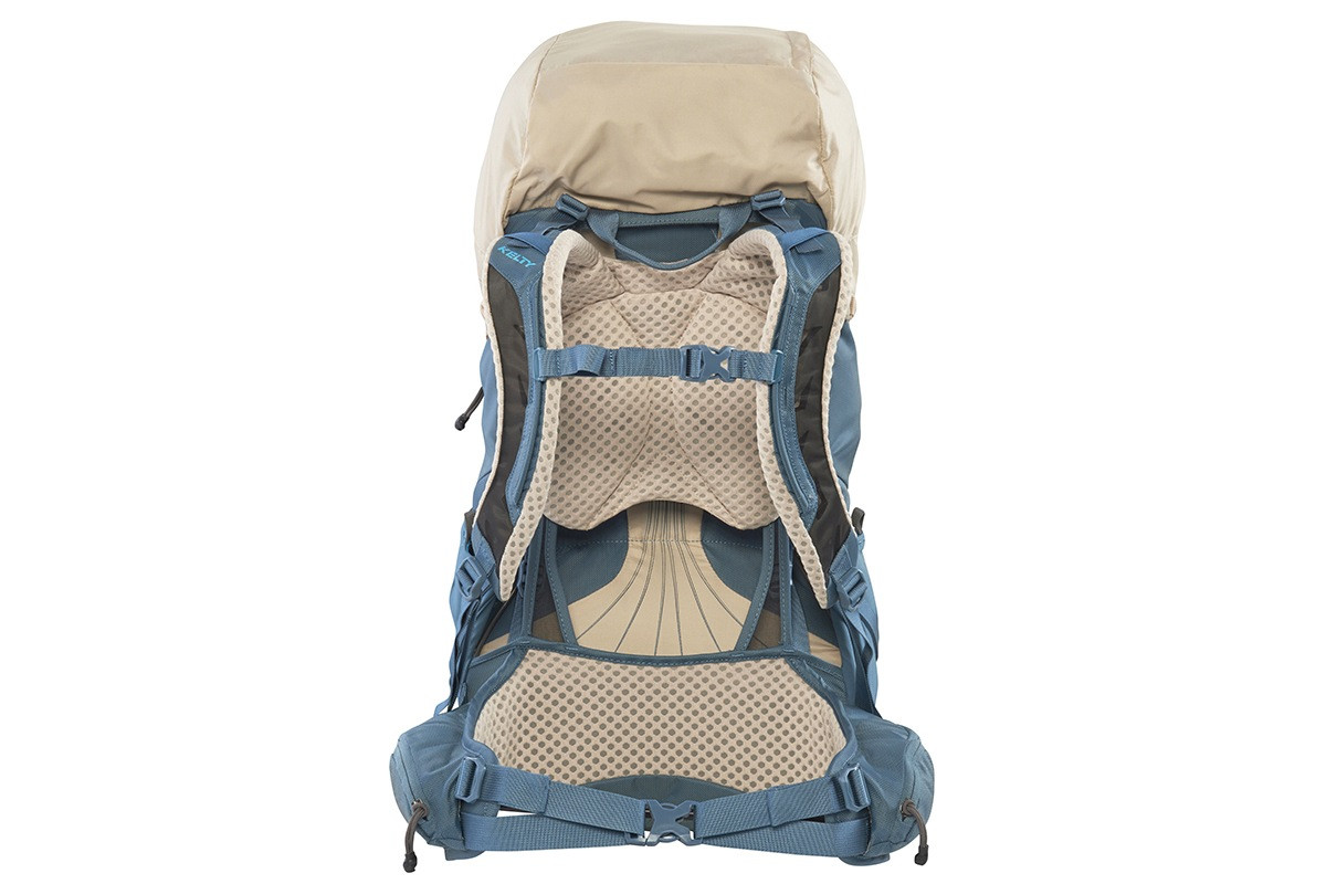 Kelty Women's Zyp 38, Sand, rear view, with waist belt buckled