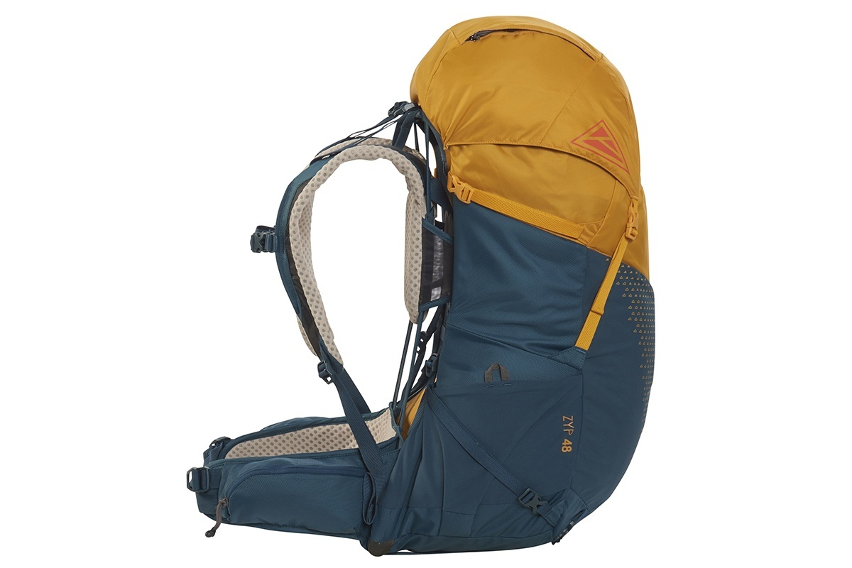Kelty Zyp 48 backpack, Sunflower, side view