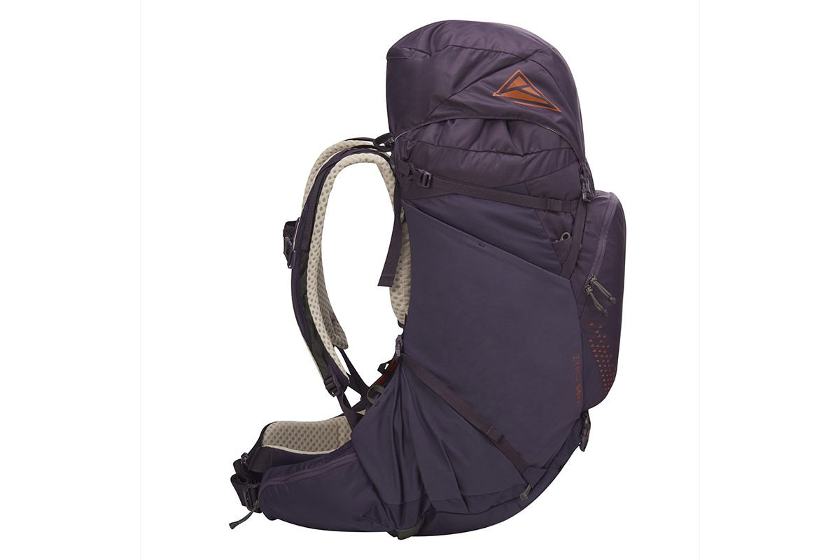 Kelty Women's Zyro 54 backpack, Nightshade, side view