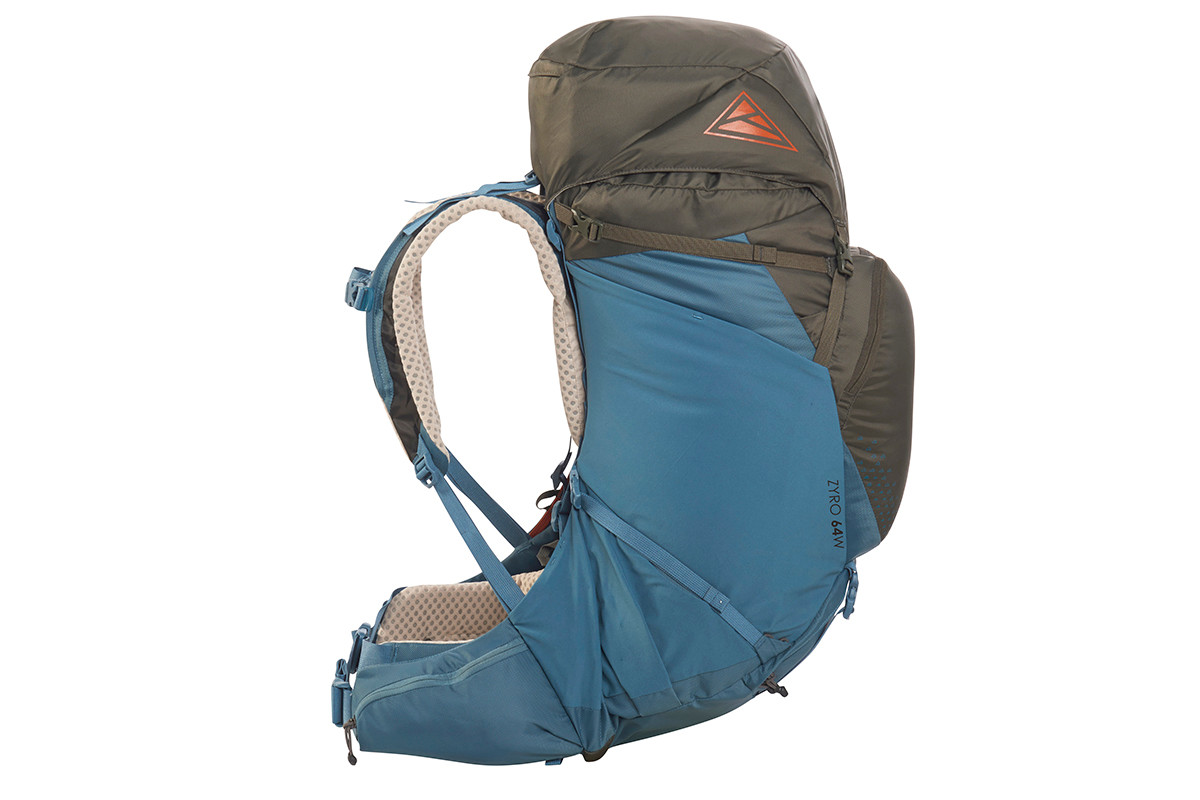 Kelty Women's Zyro 64 backpack, Beluga/Tapestry, side view