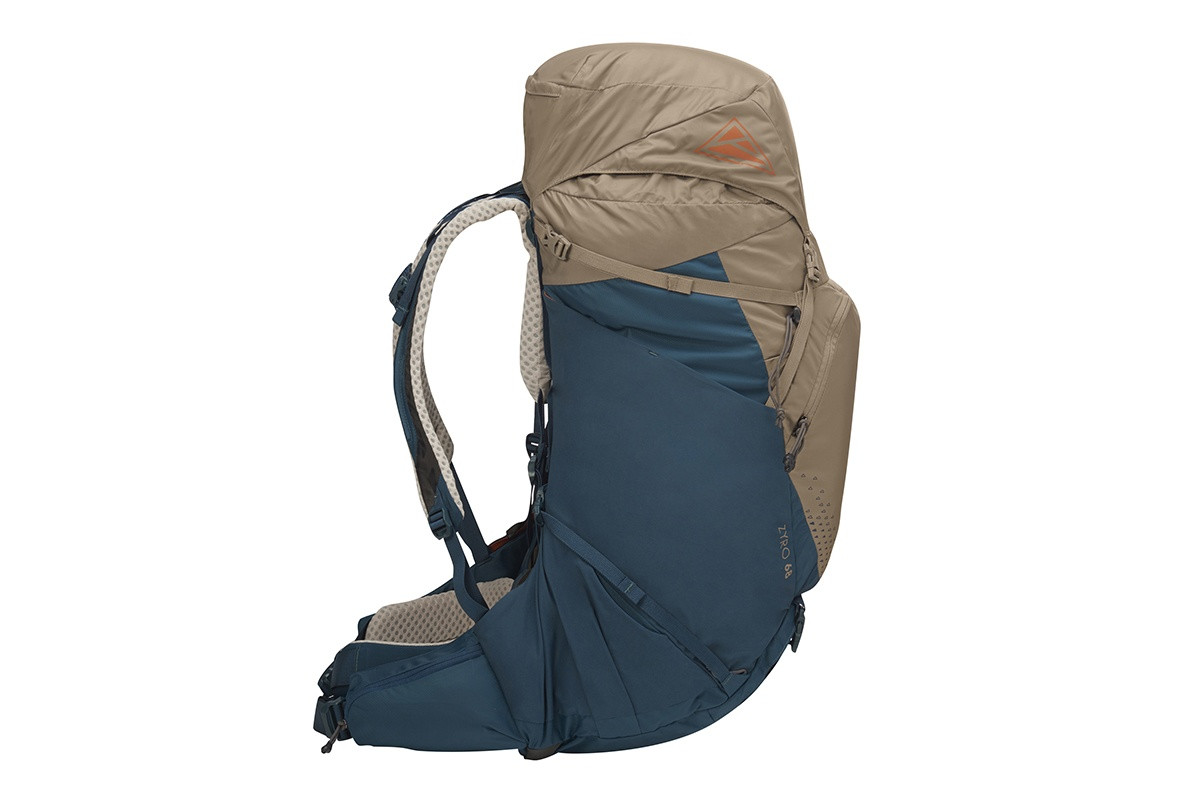 Kelty Zyro 68 backpack,  Fallen Rock/Reflecting Pond, side view
