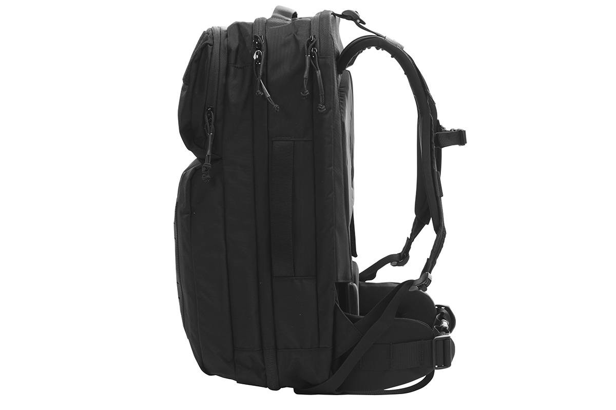 Kelty Nomad travel pack, black, side view