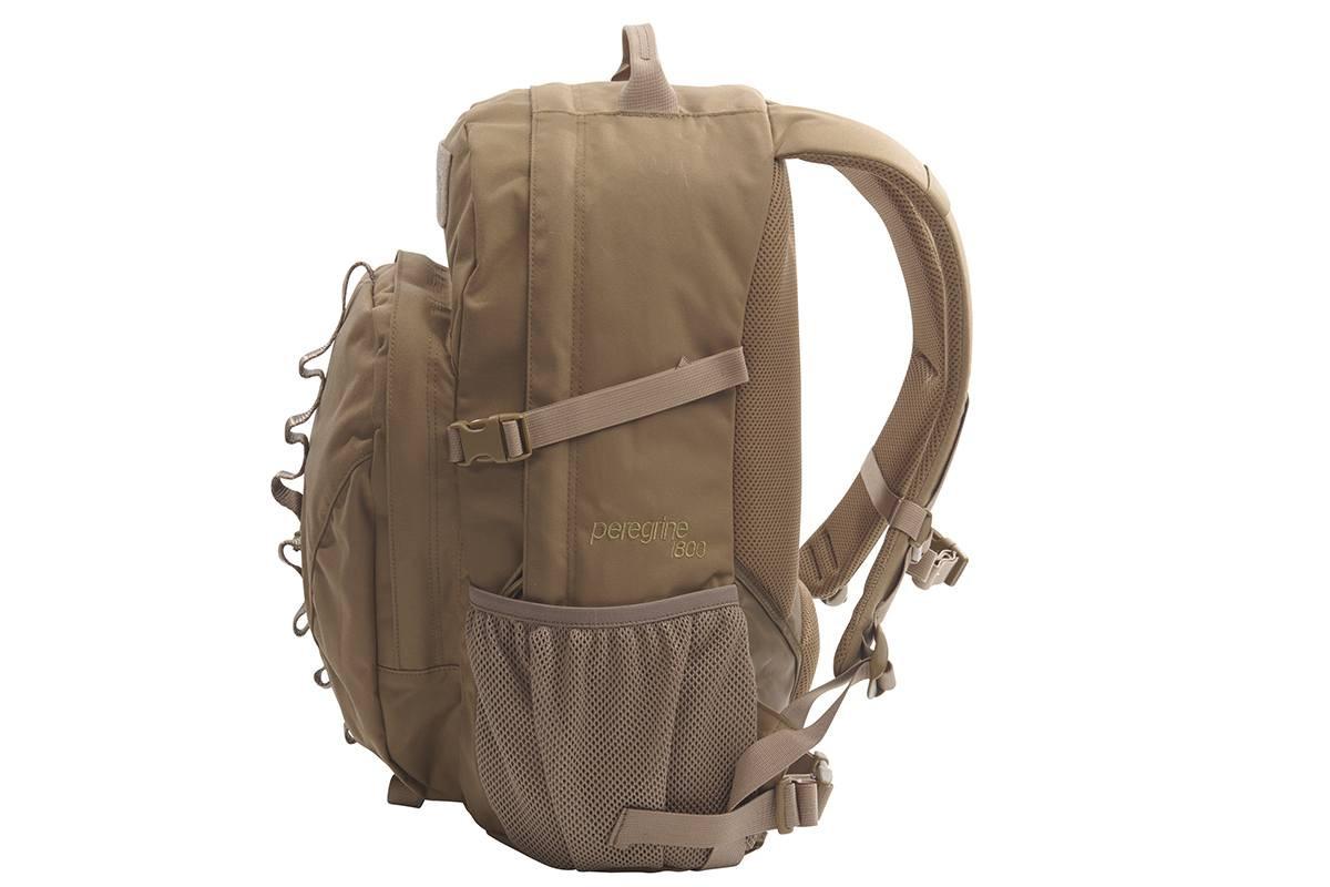 Kelty Peregrine 1800 backpack, Coyote Brown, side view