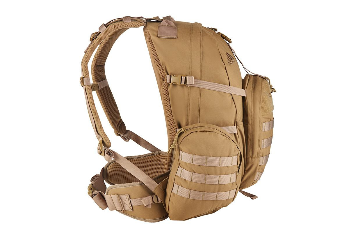 Strike 2300 USA backpack, Coyote Brown, side view