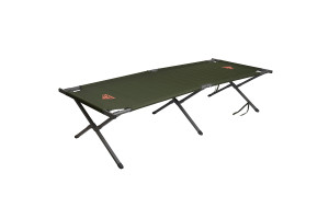 Kelty Discovery High Cot, dark olive green, shown at an angle