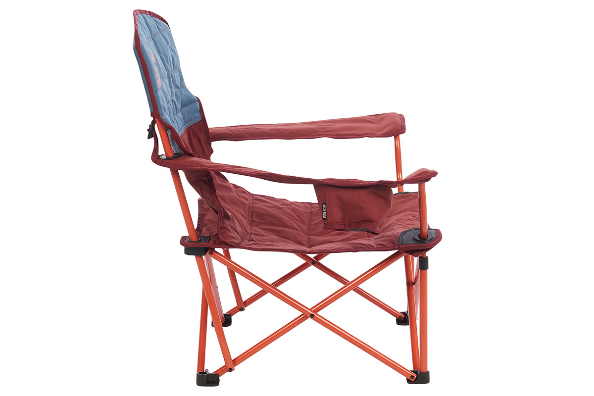 Kelty Discovery Lowdown chair, blue/red, side view