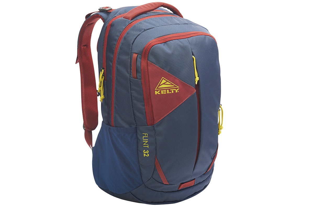 Kelty Flint 32 daypack, Midnight Navy/Red Ochre, front view