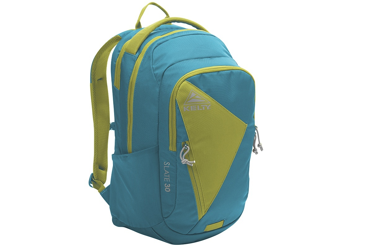 Kelty Slate 30 Daypack, Lyons Blue/Warm Olive, front view