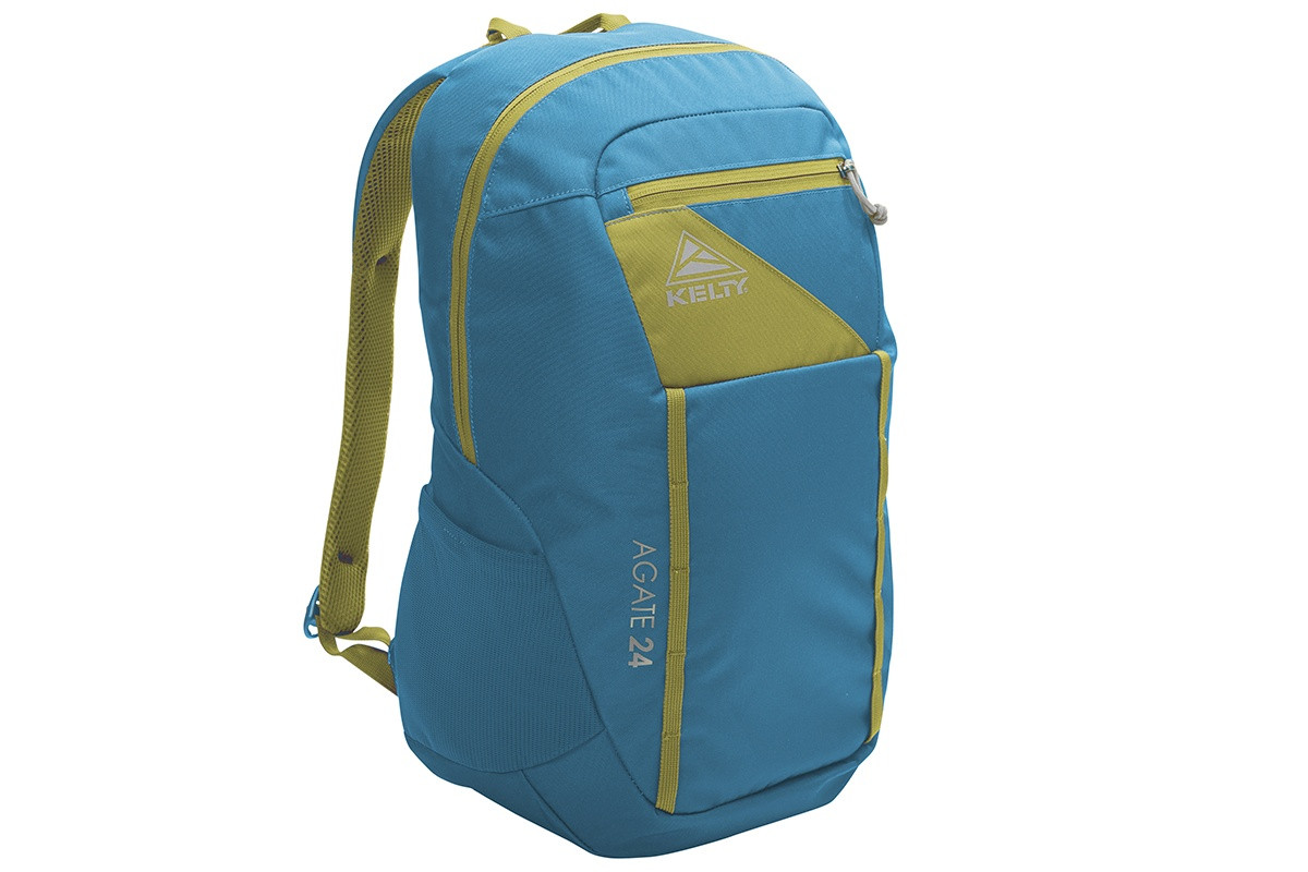Kelty Agate 24 Daypack, Lyons Blue/Warm Olive, front view