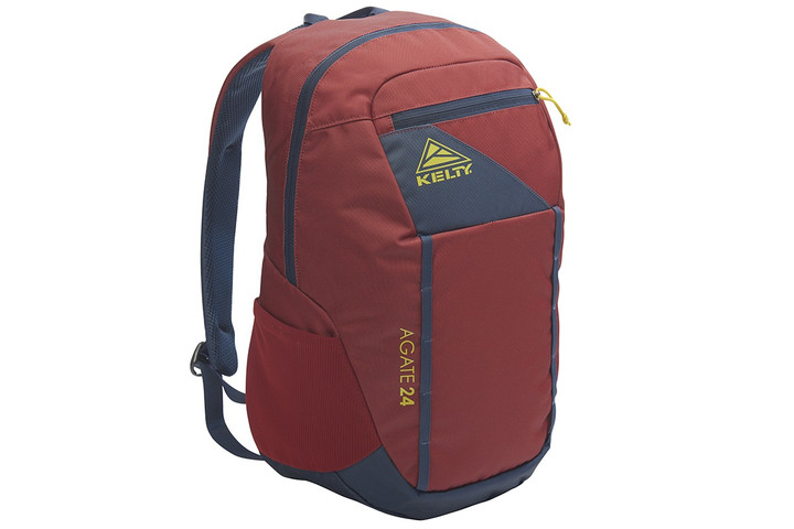 Kelty Agate 24 Daypack, Red Ochre/Midnight Navy, front view
