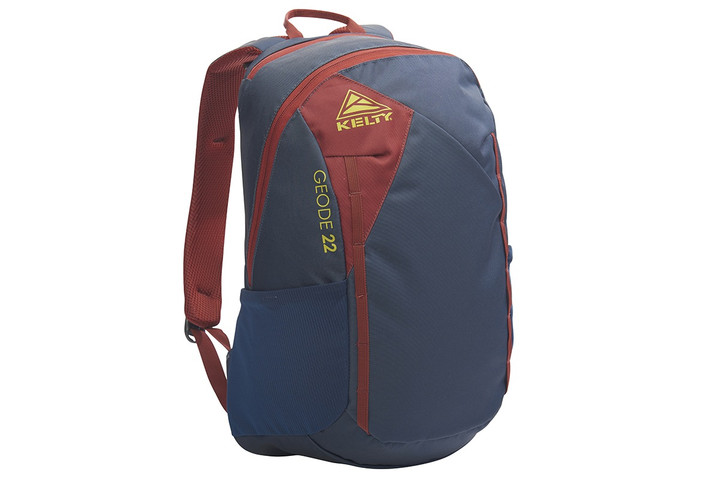 Kelty Geode 22 Daypack, Midnight Navy/Red Ochre, front view