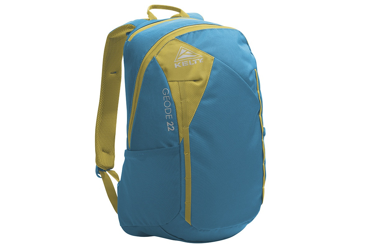 Kelty Geode 22 Daypack, Lyons Blue/Warm Olive, front view