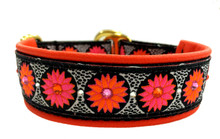 "1"" Pink and Tangerine Zinnias Swarovski Collar"