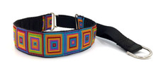 "1.5"" Rainbow Squares Private Prong Collar"