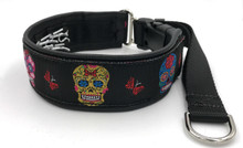 "1.5"" Sugar Skulls Elite Private Prong Collar"
