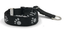 "1"" Reflective Paws Private Prong Collar"