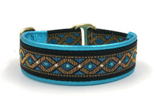 "1"" Aqua Braid Swarovski Collar"