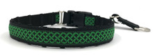 "1"" Green Celtic Knots Private Prong Collar"
