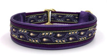 "1"" Purple Twining Vines Swarovski Collar"