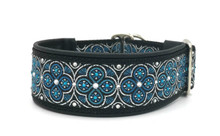 "1.5"" Aqua and Silver Toulon Swarovski Collar"