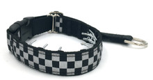 "Reflective Checkerboard 1"" Private Prong Collar"