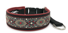 "1.5"" Crimson Bulgaria Swarovski Crystal Private Prong Collar"