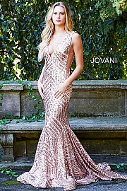 22937aeb634 Jovani 59762. Mesh embellished with sequins