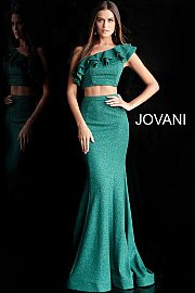 ccdfb19c95fca3 Jovani 66271. Two Piece One Shoulder Prom Dress. Available in  burgundy
