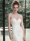 Maggie Sottero Winstyn.  Elegant fit and flare wedding gown accented with timeless sweetheart neckline and dreamy lace and tulle.  Detachable belt sold separately.  Available in white, ivory, and ivory over light gold.