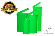 Green Pop Top Containers