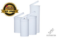 White Pop Top Containers