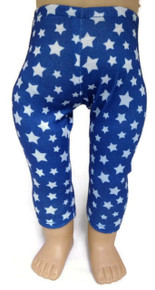 Blue with White Stars Leggings