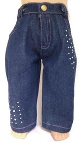Denim Jeans with Rhinestones