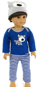 3 pc Doggy Pajama Set-Boy