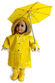 Raincoat,Umbrella, & Boots-Yellow