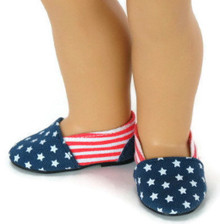 Red, White, & Blue Patriotic Canvas Slip On Shoes